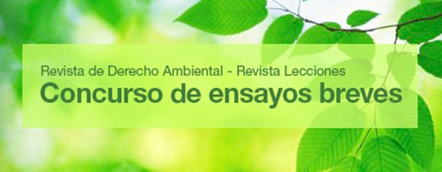 Concurso de ensayos en Derecho Ambiental