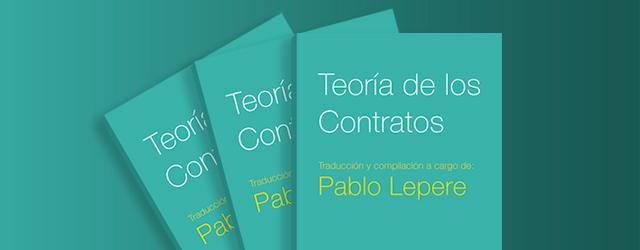 Nuevo libro de la Colección de Ciencias Jurídicas: Teoría de los Contratos