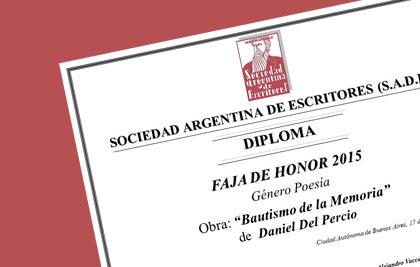 Daniel Del Percio, docente e investigador UP, premiado