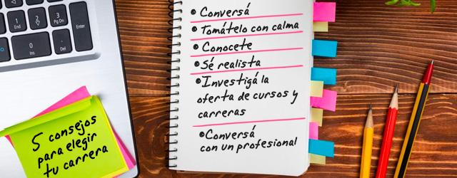 Orientación vocacional:5 consejos para elegir tu carrera