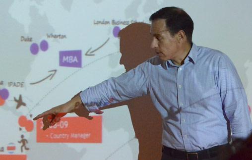 Javier Sanchez Carranza en el Ciclo de charlas con CEOs.