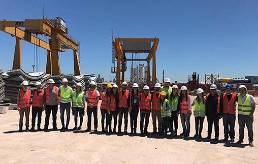 Alumnos y egresados UP visitaron una de las obras más grandes de Sudamérica: el sistema de saneamiento del Riachuelo