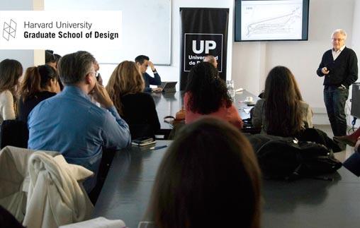 Alumnos de Harvard University GSD asistieron a la Master class del Arq. Alberto Varas en la UP