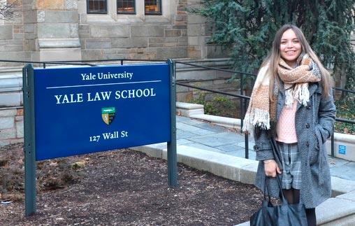 Celeste Elorriaga, alumna de la maestría en Derecho de la UP, realizó un intercambio en Yale Law School