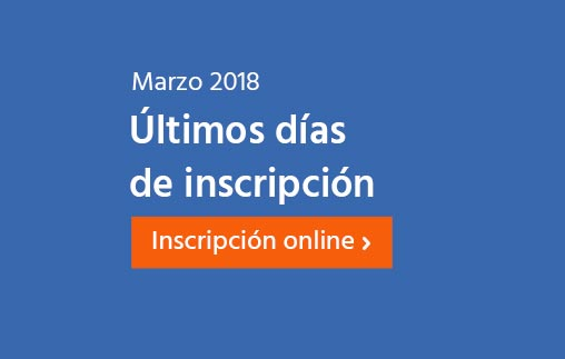 Marzo 2018: últimos días de inscripción