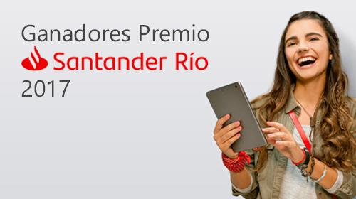 Alumnos UP obtuvieron los Premios Banco Santander Río 2017