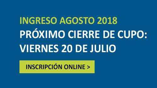 Próximo cierre de cupo: viernes 20 de julio