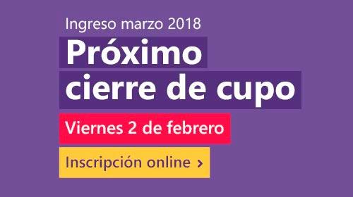 Próximo cierre de cupo: viernes 2 de febrero