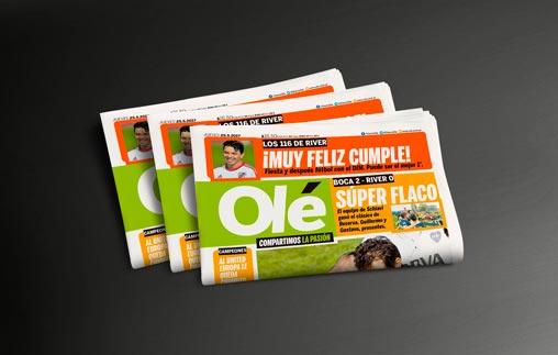 Pasantías de periodismo deportivo en el diario Olé