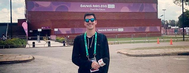 Alejandro Giordano, egresado de Periodismo Deportivo UP, cubrió los JJOO de la Juventud para ESPN