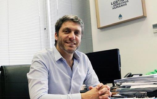 Diego Borisonik, egresado de Psicología UP y director general de Políticas Integrales de Diversidad Sexual de la Secretaria de DDHH y Pluralismo Cultural de la Nación
