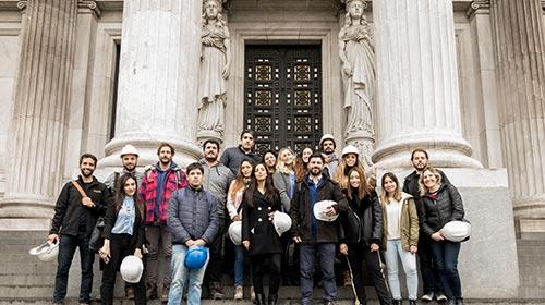 Alumnos de Arquitectura UP recorrieron la obra en restauración del Congreso de la Nación Argentina