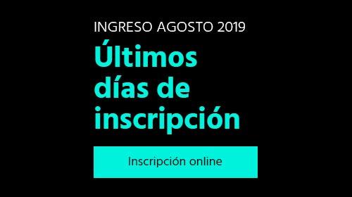 Inscripción agosto 2019
