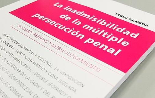 Pablo Gamboa, graduado de la Maestría en Derecho con orientación en Derecho Penal UP publicó su tesis de maestría