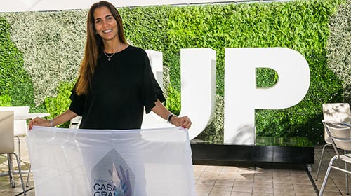Romina Churba, egresada de Relaciones públicas UP, creó la fundación solidaria Casa Grande