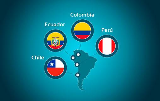Reuniones informativas en Colombia, Ecuador, Perú y Chile