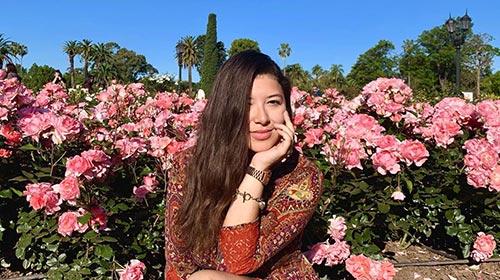Génesis Lyan Meléndez Vega, alumna de la Universidad de Puerto Rico, en la UP