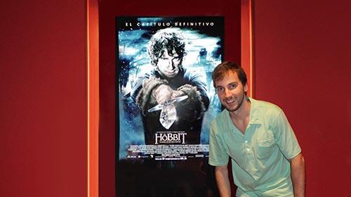 Julián Coutada, egresado de Imagen y Sonido UP, trabajó en<em> El Hobbit</em> en Nueva Zelanda