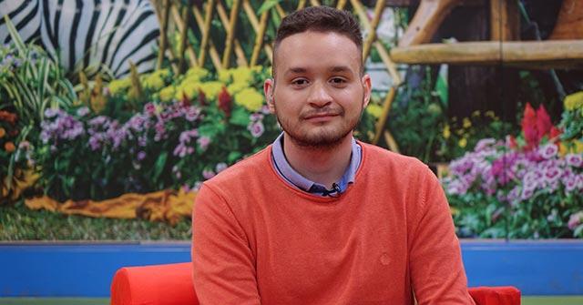 Agustín Götze, conductor de TV y egresado UP