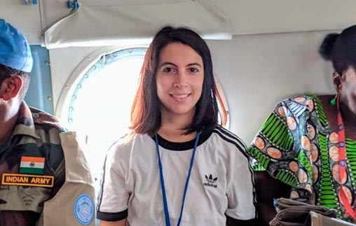 Antonela Tedesco, egresada de Relaciones Internacionales UP, fue mediadora de paz en la<em>Misión de Naciones Unidas en Sudán del Sur</em>