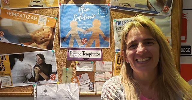 Denise Munteanu, psicóloga UP, es coordinadora de una institución de psicología y coterapeuta de niños