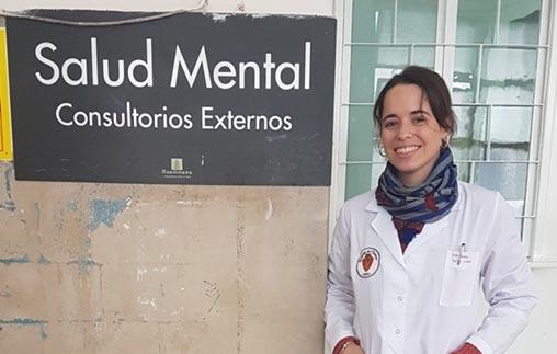 Trinidad Soto Acebal, psicóloga UP, ejerce en el Hospital de Clínicas José de San Martín