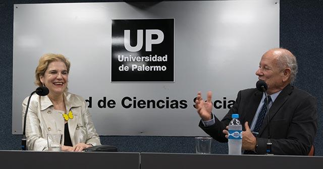 Pilar Rahola disertó sobre las fake news en la Facultad de Ciencias Sociales UP
