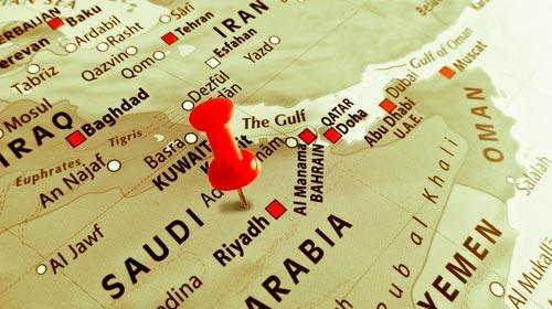 Petro-monarquías del Golfo Pérsico aliadas contra Irán