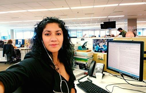 Belkis Icela Martínez Cárcamo, de Honduras, estudió Periodismo UP y trabaja en La Nación