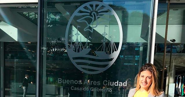 Maria Florencia Greco Mauas se desempeña en la Subsecretaría de Relaciones Internacionales de la Ciudad de Buenos Aires