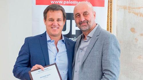 Fernando Sarni fue reconocido por la Universidad de Palermo