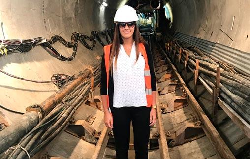 Antonella Garello, arquitecta UP, trabajó en el proyecto de Sistema Matanza - Riachuelo para Salini Impregilo
