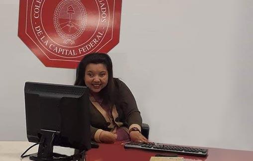 Elizabeth Mayer, egresada de Derecho UP, dirige su estudio jurídico y colabora con la Comisión de Discapacidad del Colegio Público de Abogados de la Ciudad