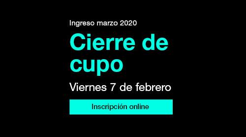 Inscripción marzo 2020