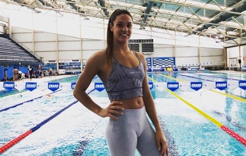 Macarena Ceballos, Campeona argentina de natación, estudia Periodismo Deportivo en la UP