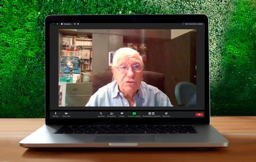 """Enrique Macaya Márquez disertó por videoconferencia sobre: """"El fútbol jaqueado por el coronavirus'"""