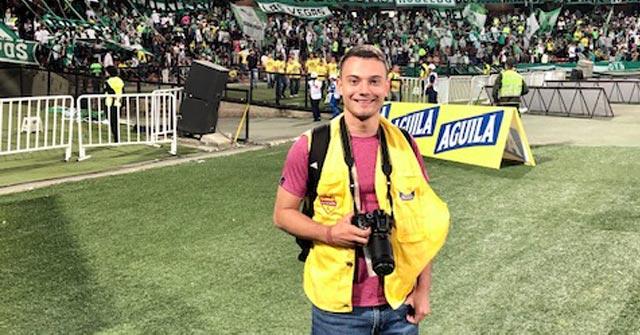 Juan Camilo Bohorquez, periodista deportivo UP, realiza coberturas para la Liga de Fútbol de Tolima