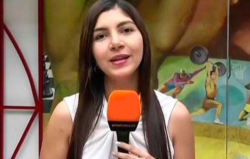 Estefanía Gómez, periodista deportiva UP, trabaja en la señal deportiva colombiana Win Sports
