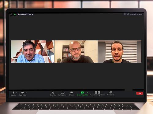 Martín Umarán,Alejandro Melamed y Mariano Longo participaron del Ciclo de Grandes Líderes de la UP