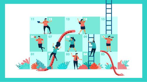 Experiencia emprendedora: escaleras y serpientes