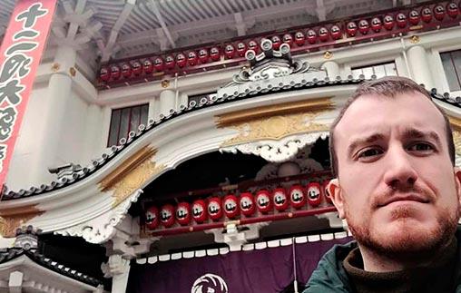 Santiago Brignole Araujo, Periodista UP, trabaja como corresponsal desde Japón