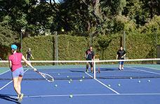 Una clase de Tenis