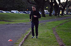 A correr