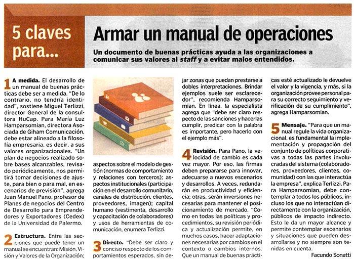 Armar un manual de operaciones